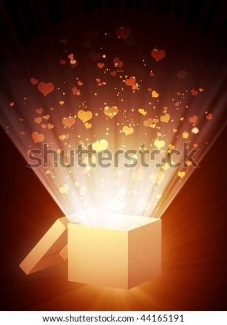 Decorative collage - vertical valentine background - stock photo