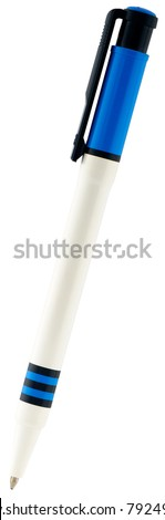 Decorative colored ballpoint pen isolated on white
