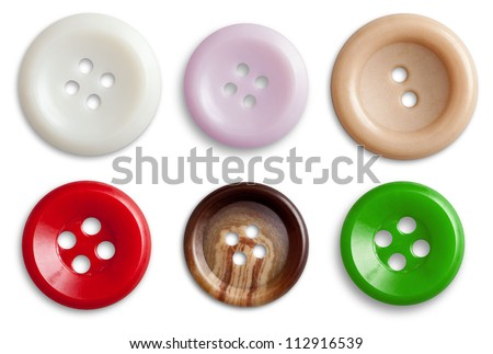 Decorative Colorful Vintage Sewing or Scrapbook Buttons - stock photo