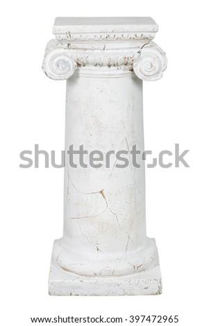 Decorative column, isolated on white background - stock photo