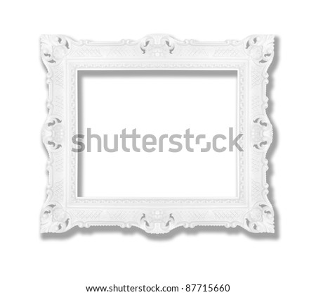 Decorative contemporary white frame, similar available in my portfolio - stock photo