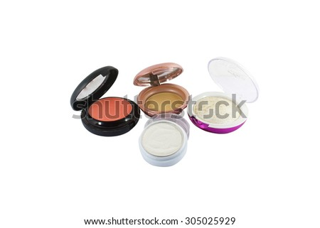 Decorative cosmetics for makeup on White background