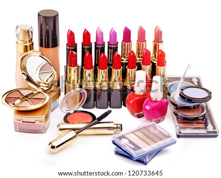Decorative cosmetics. Isolated. - stock photo