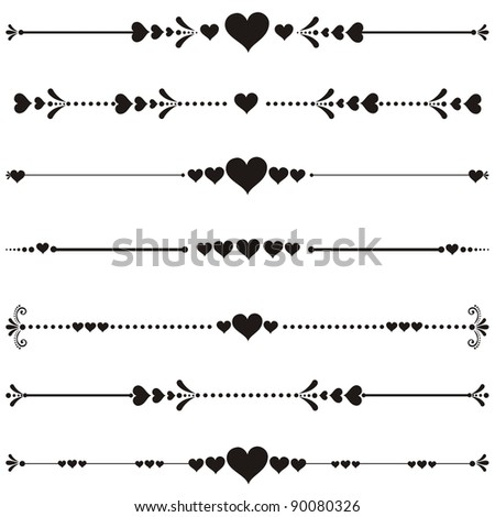 decorative design elements and page decor. Happy valentine day decor - stock photo