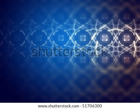 Decorative design in blue, light effects