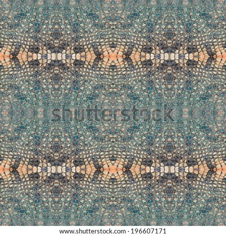 decorative design pattern, crocodile skin texture.  - stock photo