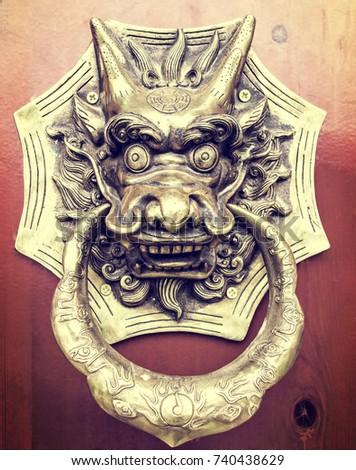 Decorative door clasps on traditional Chinese doors & door Clasp\