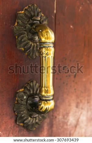 Decorative door knob  - stock photo