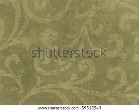 decorative elegant damask. More of this motif & more ornaments in my port - stock photo