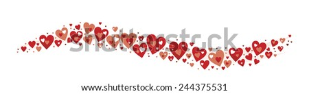decorative element with hearts for Valentine's Day - stock photo
