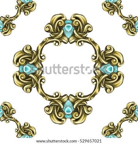 decorative elements in vintage style for decoration layout, framing, for text for advertising,  illustration hands