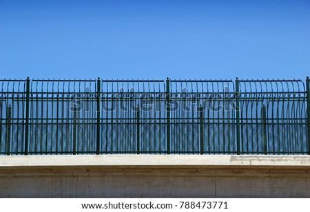 Decorative Fence on Highway Overpass on Texas Interstate