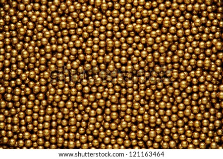 Small Decorative Balls Simple Decorative Festive Background Small Gold Balls Stock Photo Decorating Inspiration