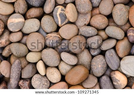 decorative floor pattern of a gravel stone - stock photo