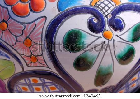 decorative flower pot - stock photo