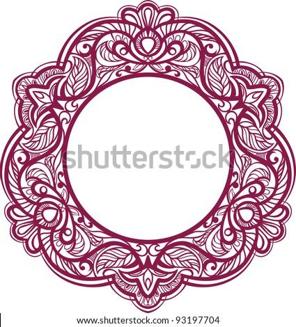 Decorative frame. Vintage ornamental element. raster version. - stock photo