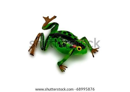 decorative frog - stock photo