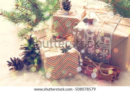 decorative gift box on white background