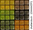 Decorative Glass Blocks color - stock photo