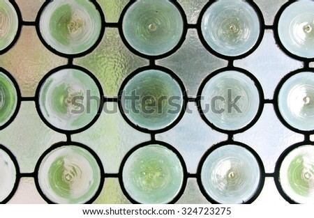 Decorative glass window details - stock photo