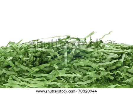 Decorative Green Easter Grass Holiday Background. - stock photo