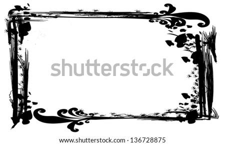 Decorative grunge frame - stock photo
