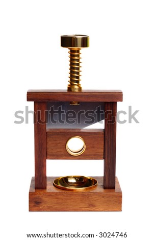 Decorative guillotine for cutting cigars isolated over white background - stock photo