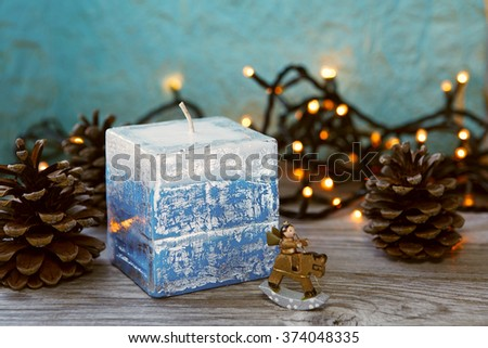 Decorative Handmade candles in the shape of a cube