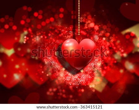 Decorative heart background for Valentines day