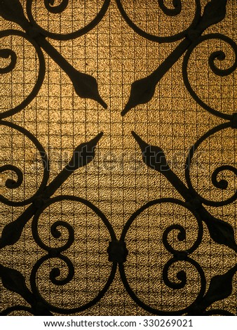 Decorative ironwork on the window in Venice, Italy. - stock photo