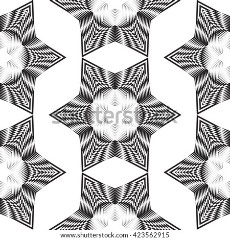 Decorative items to decorate your work. Design elements. Geometric seamless pattern.  - stock photo