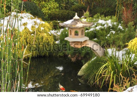 Koi pond stock photos images pictures shutterstock for Ornamental garden ponds
