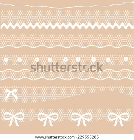 Decorative lace dividers - stock photo