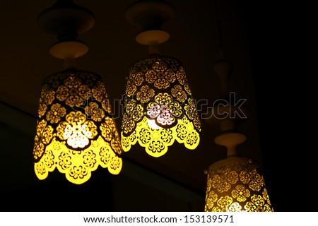 Decorative lamps - stock photo