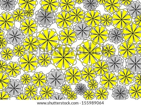 vibrant design modern floral wallpaper. Decorative modern vibrant circular abstract design with floral and  geometric textured motifs on a plain white Modern Vibrant Circular Abstract Design Stock