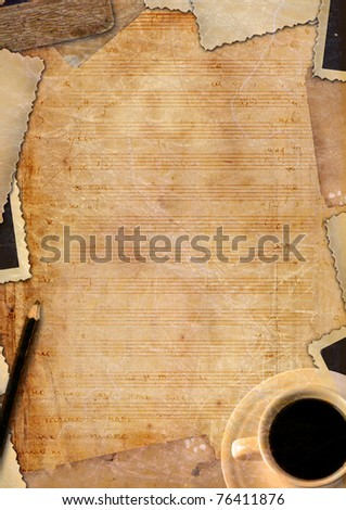 decorative note paper - stock photo