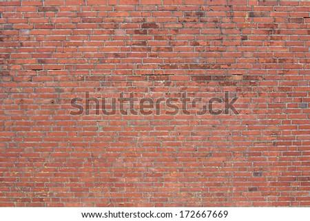 Decorative old brick wall - stock photo