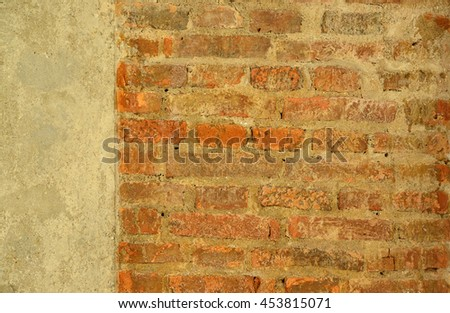 Decorative old brick wall - stock photo