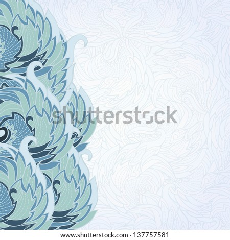 Decorative pattern for a card