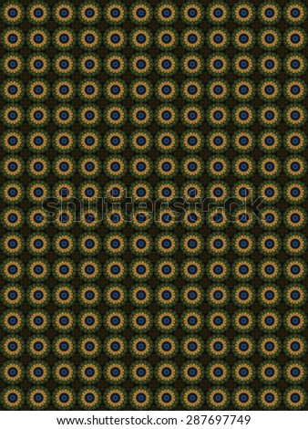 Decorative pattern, interlaced lines, the combination of fragments of images. - stock photo