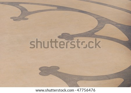 Decorative patterned concrete in contrasting colors - stock photo