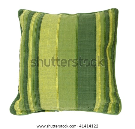 Decorative pillow isolated on white. Clipping path - stock photo