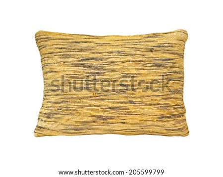 Decorative pillow isolated with clipping path included - stock photo
