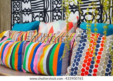 Decorative pillow natural Fabric - stock photo