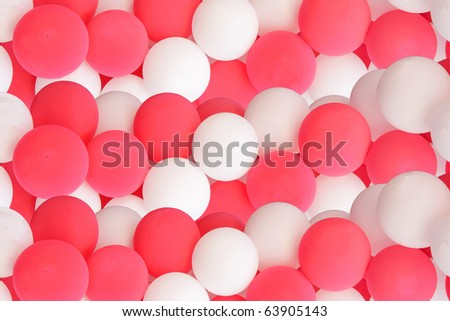 decorative pink and white balloons - stock photo