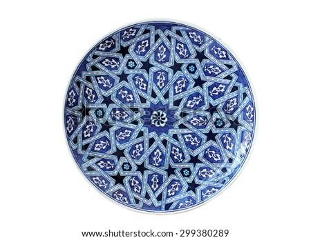 decorative plate - stock photo
