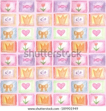 decorative Princess background - stock photo