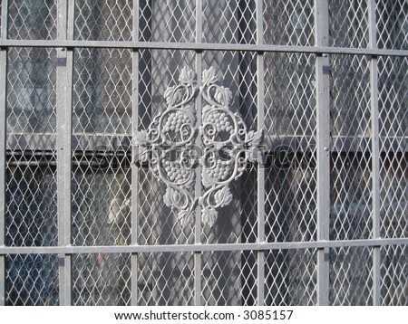 decorative security bars on window