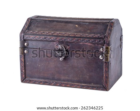 Decorative small chest for a gift.