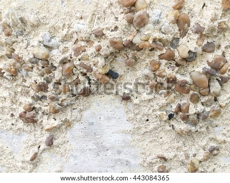 Decorative stone and cement on a wall texture. - stock photo